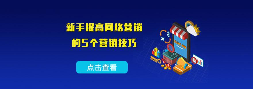 新手提高網絡營銷的5個營銷技巧-重慶網絡營銷培訓班