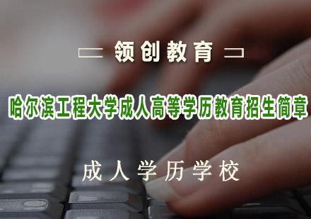 青島成人高考培訓-哈爾濱工程大學成人高等學歷教育招生簡章