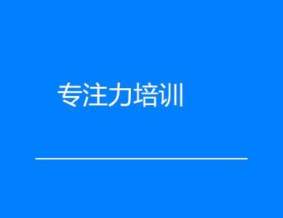 广州注意力培训-专注力培训课程