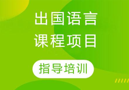 石家莊國際留學培訓-出國語言課程項目