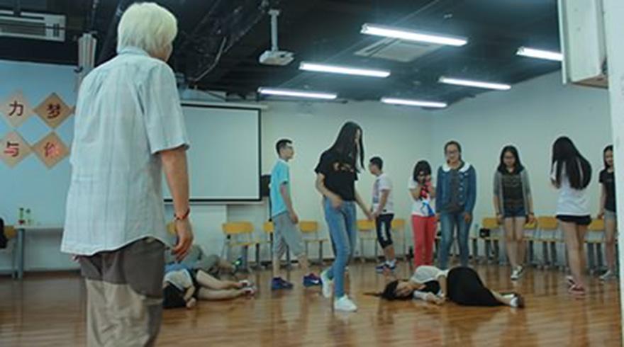 北京北廣之星藝考_上表演課的學生