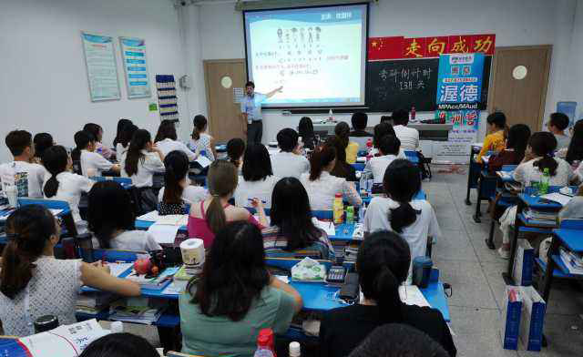 重慶渥德教育_火爆的考研課堂