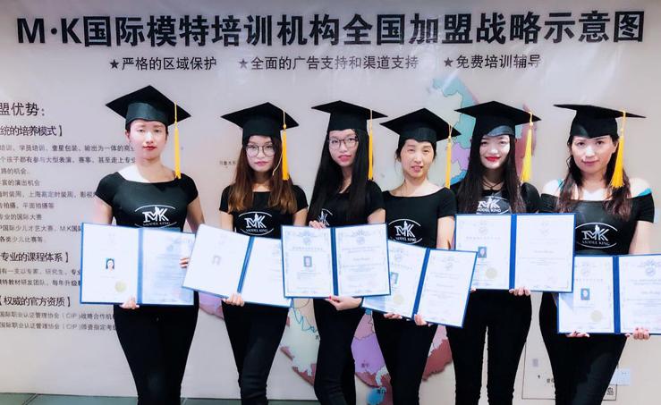 上海MK國際模特培訓學校_畢業合照